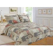 #512-56, King Size Quilt Set with Map Prints