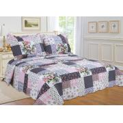 #512-98,  King Size Quilt Set with Patchwork Prints
