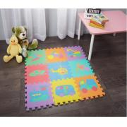 9-PC EVA Puzzle Floor Foam Mat with Vehicle prints