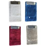 #1405,2-Piece Microfiber Solid Bath Mat Set
