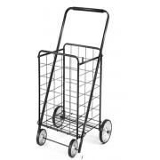 #NC-160-BK, Heavy Duty L Size Shopping Cart with 4 Metal Wheels -3PC/CS