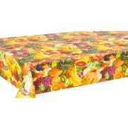 #6112-02, 9 Feet FREE-33 Yard 14mm thick double side printed with Embossed Tablecloth-54