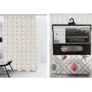 #1413-8,180g Canvas Fabric Printed Shower Curtain- 12 pcs/cs
