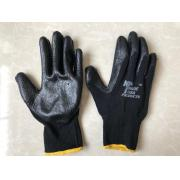 #G101 8 Pairs Latex Palm Work Gloves in Black - 10 Bags/Strip