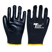 #G102 12 Pairs Latex Palm Work Gloves in Black - 6 bags/cs