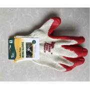 #G104 12 Pairs Latex Palm Work Gloves in Red - 6 bags/cs