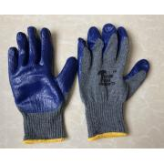 #G105 8 Pairs Latex Palm Work Gloves in Blue -10 Bags/Strip