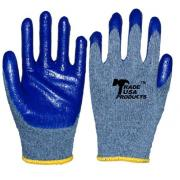 #G106 12 Pairs Latex Palm Work Gloves in Blue - 6 bags /cs